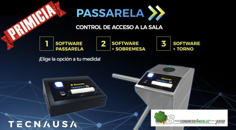 software passarela para el acceso a salas de juego controladas